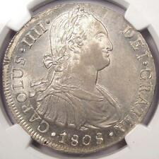 1808 Lima JP Peru 8 Reales (8R) Charles IV - NGC MS62 - Rare BU Certified Coin