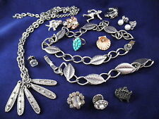 Beautiful Vintage Jewelry Lot - Brooch Pin Earrings Turquoise Ring Etc...