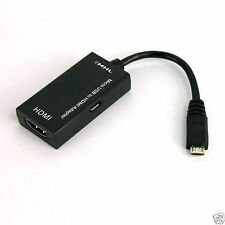 Micro USB to HDMI MHL HDTV Cable Adapter Samsung Galaxy S2 i9100 Nexus Note HTC
