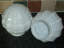 Pair of Opaline Art Deco Style Glass Globe Light Shades