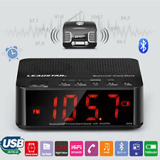 Digital LED Display Alarm Clock Bluetooth Speaker FM Radio Mp3 Player TF WMA APE