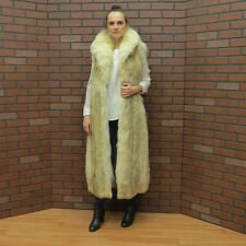 "ladies real FAB! 50"" COYOTE woof FUR VEST GILLET coat SMALL - FREE SHIP USA"