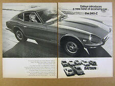 1970 Datsun 240Z 2000 & 1600 Sports 7 Models photo vintage print Ad