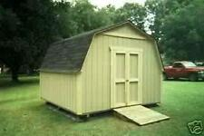 12 x 12 GARDEN BARN SHED PLANS