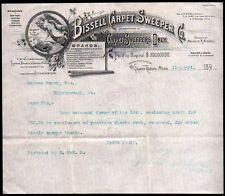 1891 Grand Rapids Michigan - Bissell Carpet Sweeper Co Vintage Letter Head Rare