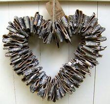 L'écorce de bouleau cœur rustique 28 cm-décoration shabby chic