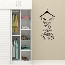 2 x Wall Sticker Wardrobe Furniture Self Adhesive Vinyl Decal Murals Sign Making