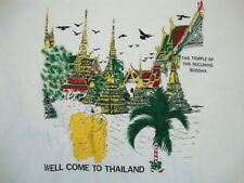 Well Come Welcome To Thailand The Temple of the Reclining Buddha T Shirt M