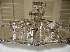 Wallace Baroque Silverplate footed fluted Punch Cups  MINT USA!
