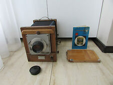Soviet Vintage FKD 13x18 wooden large format camera w/ I-51 4.5/210mm lens  #2