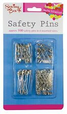 100 PACK SET ASSORTED HIJAB SCARF SAFETY PINS SMALL MEDIUM LARGE ART CRAFT 0044