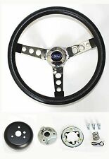 Ford Falcon Thunderbird Galaxie  LTD Steering Wheel Black and Chrome 14 1/2""
