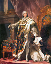 King Louis XV Of France Portrait French History Painting Art Real Canvas Print