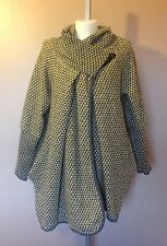 PLUS SIZE Italian Lagenlook Quirky 80% WOOL Cocoon COATIGAN Jacket Coat 16-22