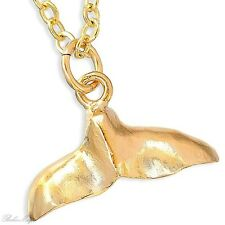 Gold Filled 14k Necklace Dolphin Pendant Designer Charm & Chain Lady Warranty S