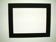 Picture Mats11x14 for 9x12 document or photo Black with white core single mat