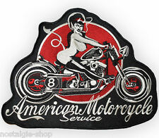 grosser Rock´n Roll Pin Up Biker Aufnäher Patch Rockabilly Backpatch Aufbügler
