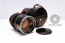 Olympus Zuiko 135mm f/3.5 Silvernose Telephoto Lens with case