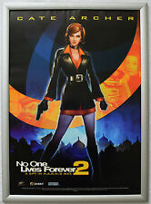 No One Lives Forever 2 A Spy in Harms Way RARE PC 42cm x 60cm Promo Poster