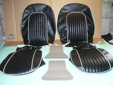 spitfire SEAT COVERS.new mk.3. in black with white pipings....fits 1965 to 1970