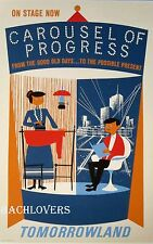 "DISNEY Carousel of Progress Tomorrowland Attraction Poster 12 x 18"" AUTHENTIC!"