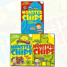 David O'Connell Monster and Chips Series Collection 3 Books Set (Food Fright)New