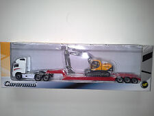 VOLVO FH12 WITH VOLVO EC210 TRUCK 1:87 CARARAMA . NEW IN BOX.