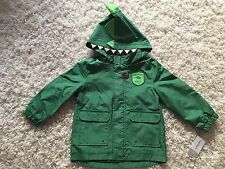Carter's Toddler Boys Jacket Water Resistant Dinosaur Hunter Green NWT 4T