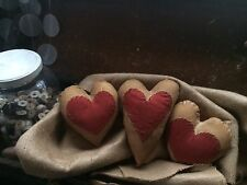 Flash Sale!!! Primitive Grunge Hearts - Set Of 3 - Be True To Your heart