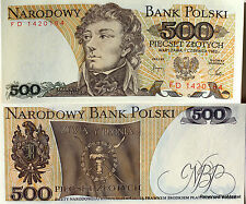 POLOGNE billet neuf  500 ZLOTYCH Pick145c  portrait T.KOSCIUSZKO 1982