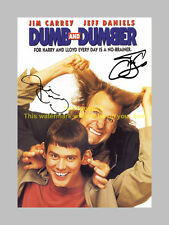 "DUMB AND DUMBER  PP SIGNED 12"" X 8"" POSTER JIM CARREY"