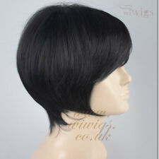 POSH Classic BOB Style Short  Wig Jet Black Skin Top Ladies Wigs from WIWIGS UK