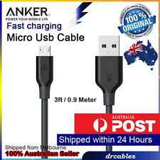 Genuine ANKER Micro To USB fast Data Charging Cable (3ft/0.9m) America's #1
