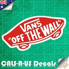 VANS Off the Wall Luggage Car Sticker Decal Skateboard Laptop iPhone L7