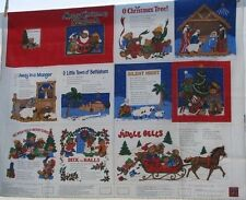 "1 Cranston ""My Christmas Songbook"" Cloth Book fabric panel"