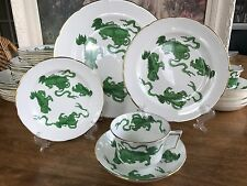 Wedgwood Bone China Green Chinese Tigers Williamsburg Place Setting 8 Available