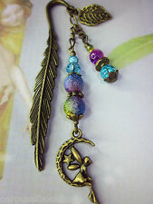 Beaded Bookmark Moon Fairy Flowers Handmade Bronze Designs More Designs in Store