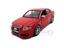 AUDI RS4 RED 1:24 DIECAST MODEL CAR BY BBURAGO 22104