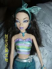 "MATTEL BARBIES MY SCENE DOLL""NOLEE"" TURQUOISE 2 PC PANTS SET HAIR RIBBON,WINE,"