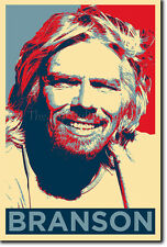 RICHARD BRANSON PHOTO PRINT POSTER (OBAMA HOPE) BUSINESS ENTREPRENEUR
