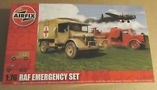 AIRFIX WW2 RAF EMERGENCY SET 1:76 SCALE AUSTIN AMBULANCE CRASH TENDOR MODEL KIT