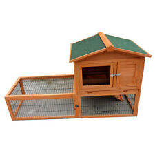 New Large Double Story Rabbit House Chook Hutch Cage with EXTENSION RUN T028