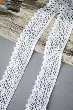 30mm Soft Elastic Stretch embroidered Lace Trim headband Shabby Chic White Brown
