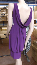 Joseph Ribkoff UK 6 BNWT Heavenly  Low Back Purple Stretch Jersey Dress US 4