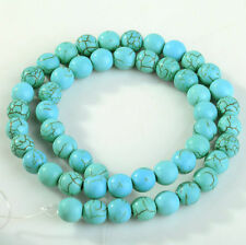 Round Loose 50Pcs Turquoise Charm Spacer beads Jewelry Findings 6mm New
