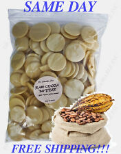 3 LB RAW PURE ORGANIC COCOA BUTTER UNREFINED FREE S&H!