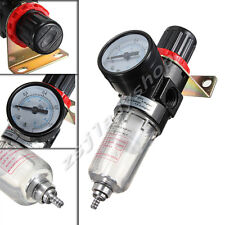 Black Pneumatic Air Source Treatment Filter Regulator w Pressure Gauge AFR-2000