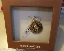 NIB COACH GOLD SEAHORSE CHARM PAVE CRYSTALS AUTHENTIC