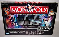 Star Wars Monopoly Original Trilogy Edition Board Game 8 Pewter Tokens Sealed