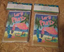 """Let's Party"" Island Style Invitation Cards-Set of 20 Invitations."